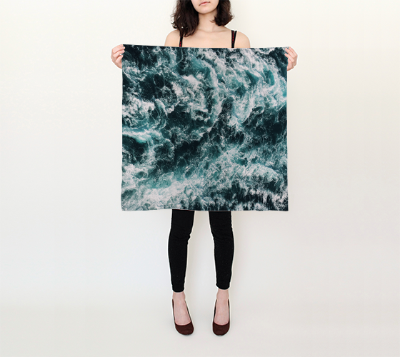 Stormy Waves Square Scarf