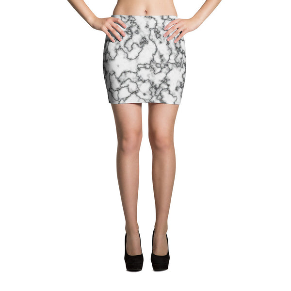 Retro Marble Mini Skirt