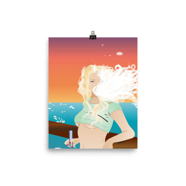 Beach Queen Art Print - Mischievous Design