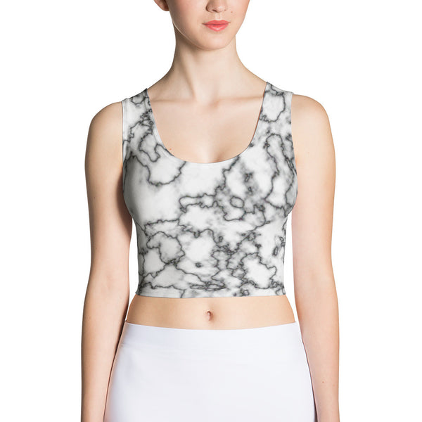 Retro Marble Fitted Crop Top