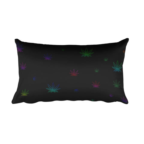 Ganja Rainbow Rectangular Pillow - Mischievous Design