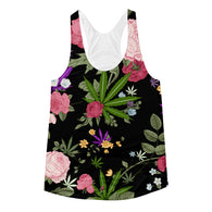 Cannabis Rose Women's Racerback Tank