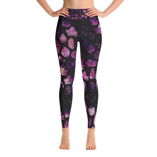 Crystals & Galaxies Athletic Leggings