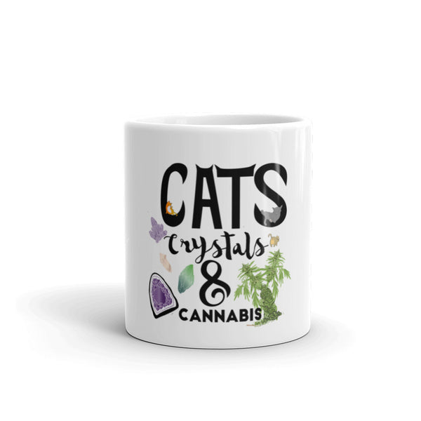 Cats, Crystals, & Cannabis Mug
