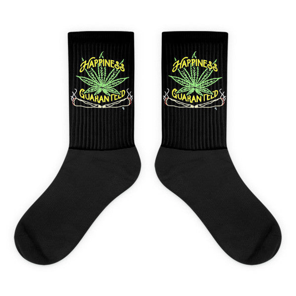 Happiness Black foot socks - Mischievous Design