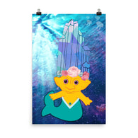 Crystal Mermaid Troll Poster