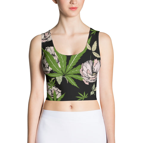 Canna Babe Floral Classic Crop Top