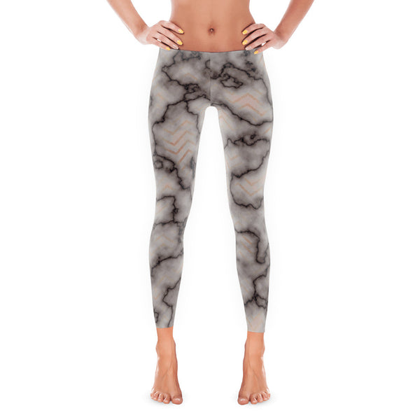 Chevron Marble Classic Leggings