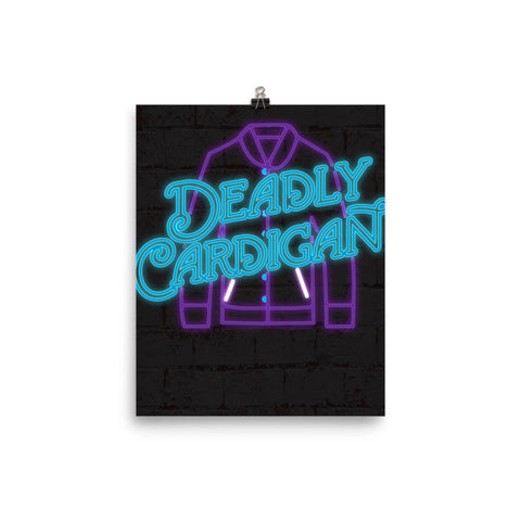 Deadly Sweater Poster - Mischievous Design