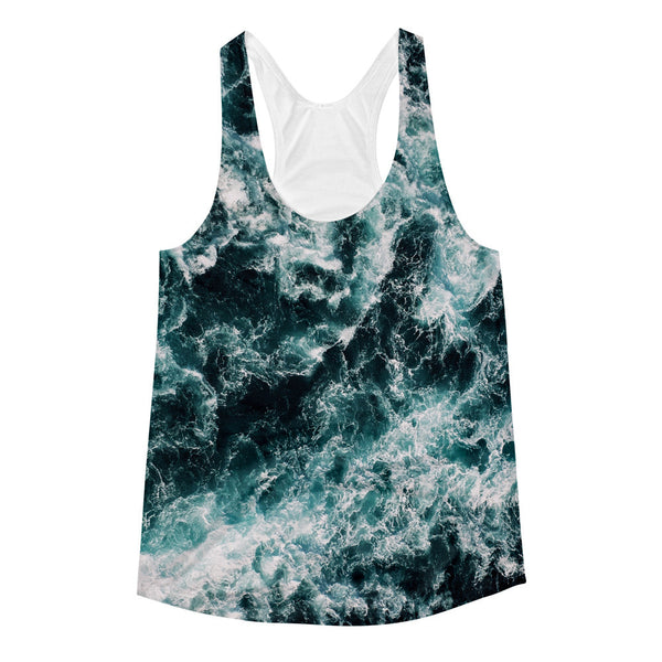 Stormy Waves Women's Racerback Tank