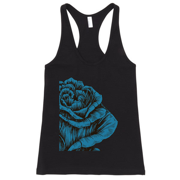 Blue Vintage Mysteries tank top - Mischievous Design