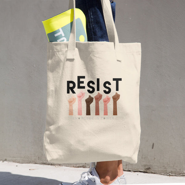 Resist Cotton Tote Bag