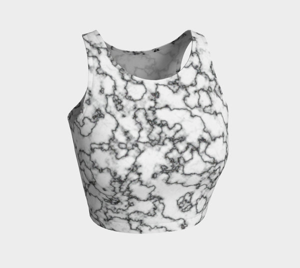 Retro Marble Athletic Crop Top