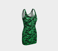 Greenery Floral Fantasy Ecopoly Curvehugger Dress