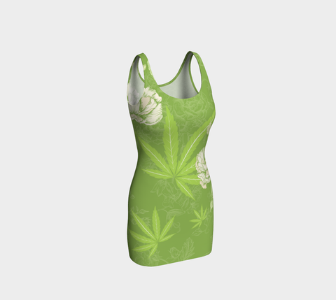 True Greenery Ecopoly Curvehugger Dress