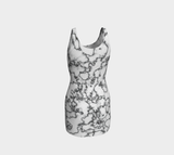 Retro Marble Ecopoly Curvehugger Dress