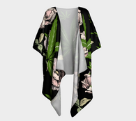 CannaBabe Floral Ecopoly Draped Kimono