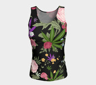 Cannabis Rose Fitted Tank Top