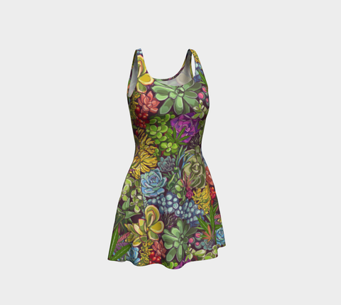 High Succulent Ecopoly Flare Dress