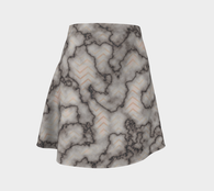 Antique Marble Chevron Flare Skirt