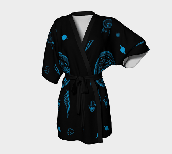 Dreams Are Made For Catching Kimono Robe - Mischievous Design