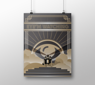 Eye'm Watching in Deco Poster - Mischievous Design