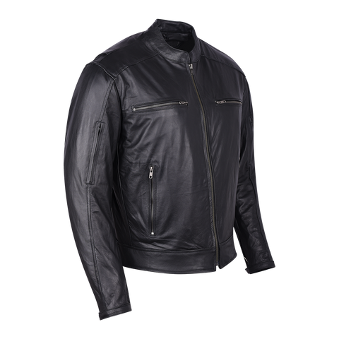 HMM543 High Mileage Premium Men's Black Leather Jacket