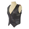 Ladies Premium Leather Vest with Zipper and Elastic Sides