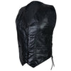 Ladies Lambskin Side Lace Vest genuine midweight leather