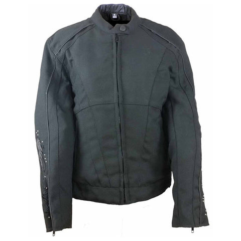 VL1582 Vance Leather Women's Reflective Wings Motorcycle Jacket