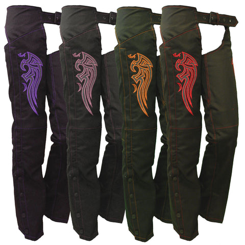 VL1881 Vance Leather Ladies Textile Chaps with Embroidery(various colors)