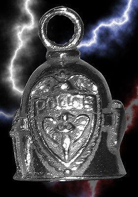 Guardian Police Motorcycle Biker Luck Gremlin Riding Bell or Key Ring