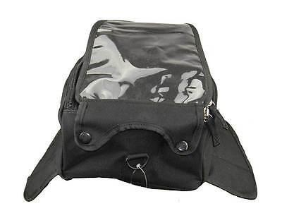 VS408 Vance Leather Medium Magnetic Tank Bag with Map Pocket.