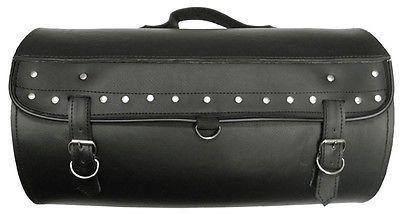 VS376 Vance Leather Medium Studded Sissy Bar Roll Bag