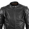 VL511 Vance Leather Cowhide Leather Fully Lined Racer Jacket