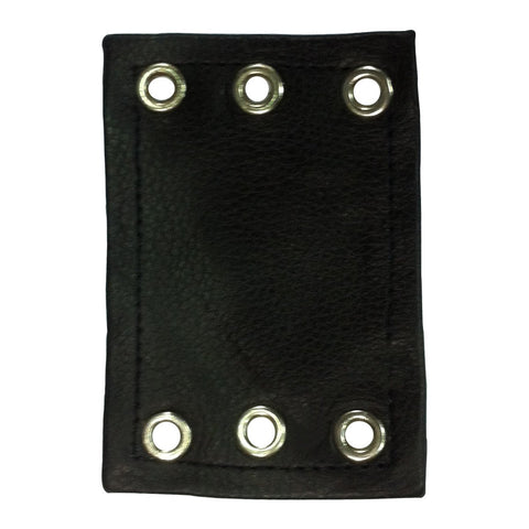 Leather chap extenders can be used to extend your chaps waist by approximately 4 inches.