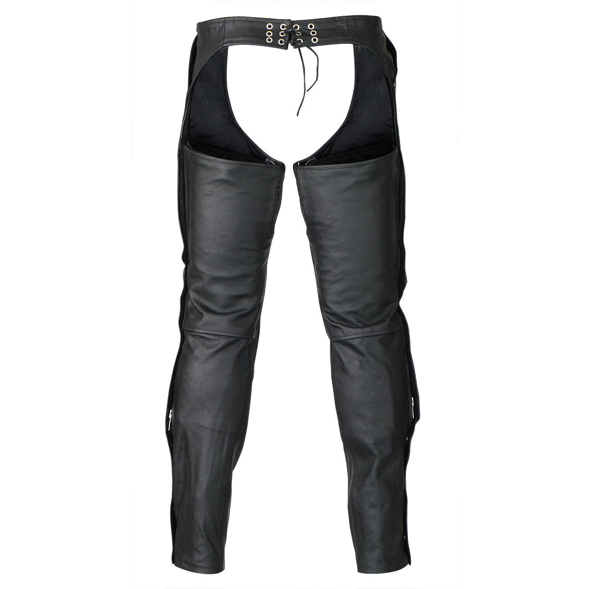 White Leather Chaps With Side Pocket