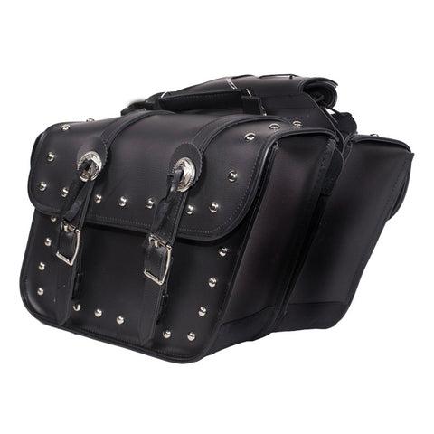 VS204 Studded Motorcycle Saddlebags
