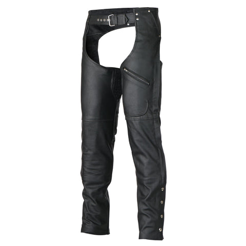 Zip-Out Insulated Pant Style Zipper Pocket Leather Chaps