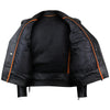 VL515S Men's Basic Classic Motorcycle Jacket with Lace Sides & Zip out Liner