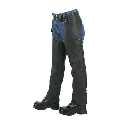 VK801 Kids Leather Motorcycle Chaps American Special