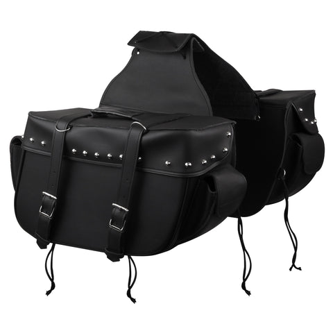 VS211 Vance Leather Big Motorcycle Saddlebags with Outside Pockets