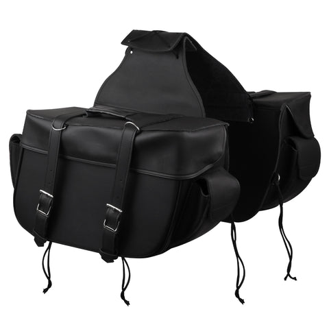 VS210 Big Motorcycle Zip Off and Throw Over Saddlebags With Outside Pockets