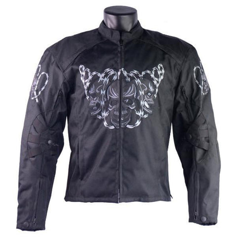 HMM1501 H/M Armored Jacket with Reflective Skulls and Razor Wire