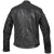 HMM521 High Mileage Men's Black Leather Jacket with Diamond Stitched Shoulders