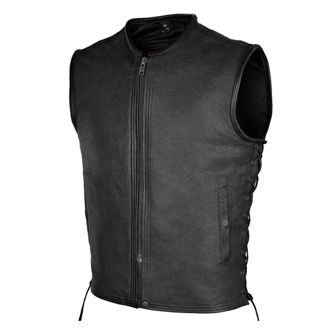 MEN'S PREMIUM HIGH MILEAGE LEATHER VEST