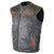 HMM942DG Men's Distressed Gray Vest with Padded Back and Inside Gun Pocket