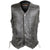 HMM915DG Vance Leather High Mileage Men's Distressed Gray 10 Pocket Vest