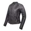 HML638DG Ladies Lightweight Distressed Gray Goat Skin Leather Jacket
