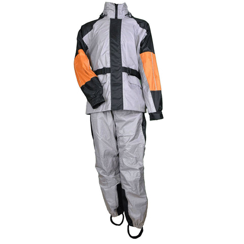 RS35G Unisex Rain Suit (Gray/Black & orange)